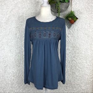 Sundance Embroidered Tunic Top | M